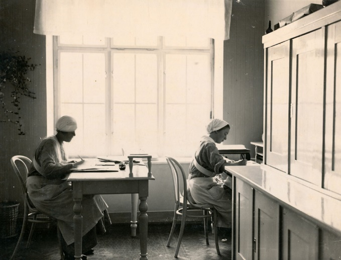 Soba za medicinske sestre u Gradskom dječjem ambulatoriju 1931.